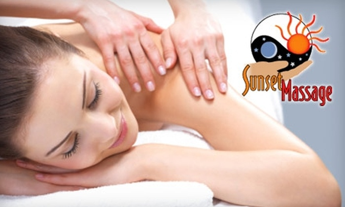 Sunset Massage and Moonwaves - Multiple Locations: $35 for a One-Hour Deep-Tissue Massage at Sunset Massage and Moonwaves ($70 Value)