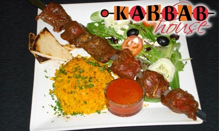 Kabbab House - Metro West: $9 for $20 Worth of Mediterranean Cuisine, Drinks, and Hookah at Kabbab House