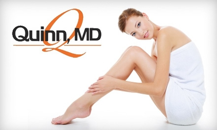 QuinnMD Aesthetic Science & Laser Medicine - Secret Cove: $99 for Three Laser Hair Removal Treatments at QuinnMD Aesthetic Science & Laser Medicine (Up to $600 Value)