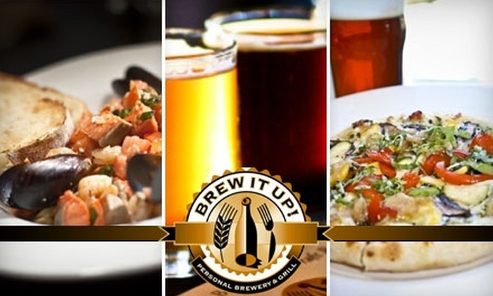 Brew It Up! Personal Brewery & Grill - Central Sacramento: $79 for One Batch of Beer with a Beer-Brewing Party at Brew It Up! Personal Brewery & Grill