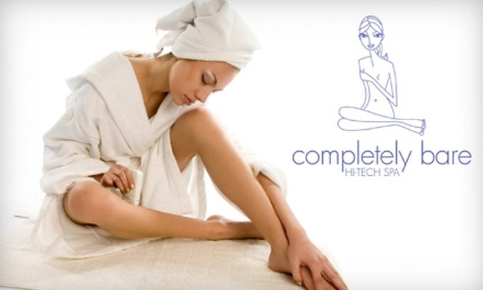 completely bare - Multiple Locations: $89 for Three Laser Hair-Removal Sessions (Up to $900 Value) or $37 for Brazilian Wax ($74 Value) at Completely Bare