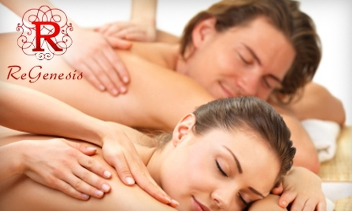 ReGenesis Healing & Wellness Medi-Spa - Historic Downtown: $90 for a 60-Minute Couple's Massage ($200 Value) or $60 for a 60-Minute Hot-Stone Massage ($120 Value) at ReGenesis Healing & Wellness Medi-Spa