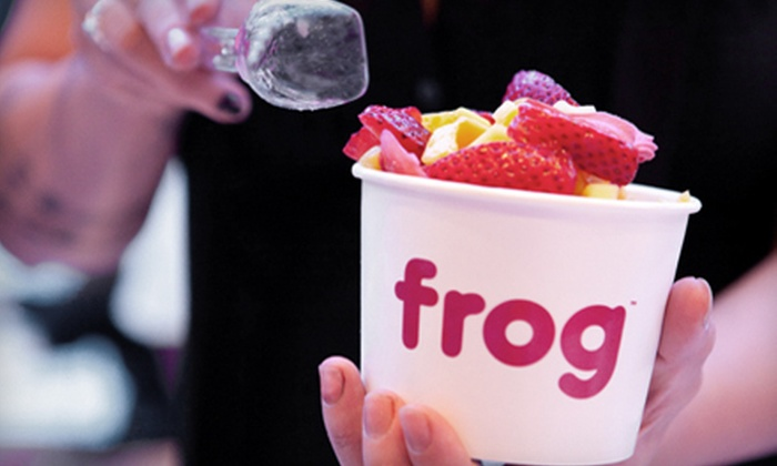 Frog Frozen Yogurt Bar - Hollywood: Four Frozen Yogurts or $5 for $10 Worth of Frozen Yogurt at Frog Frozen Yogurt Bar