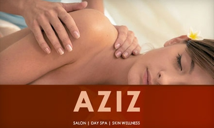 Aziz Salon and Day Spa - Downtown: $99 for a Massage Retreat at Aziz Salon and Day Spa ($225 Value)