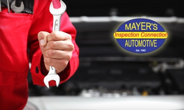 Mayer's Inspection Connection - Holmesburg: $19 for an Oil Change, Tire Rotation, and Brake Inspection ($65 Value) or $29 for a State Vehicle Emissions Inspection ($69.95 Value) from Mayer's Inspection Connection