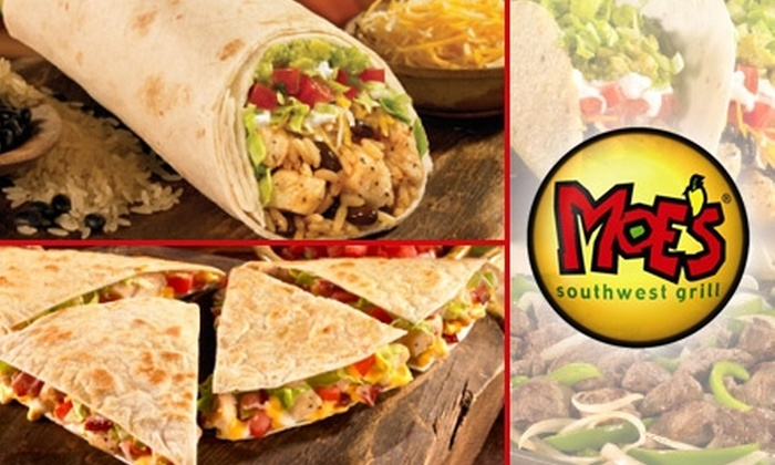 Moe's Southwest Grill - Atlanta: $8 for $16 Worth of Southwestern Fare and Drinks at Moe's Southwest Grill in Roswell