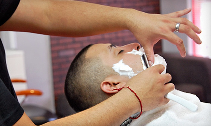 Brooklyn Barbershop - Phoenix: One or Two Haircuts with Brow Trim and Optional Straight-Razor Shave at Brooklyn Barbershop (Up to 70% Off)