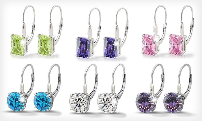 Cubic-Zirconia Leverback Earrings: $19 for Cubic Zirconia Leverback Earrings ($50 List Price). 15 Styles Available. Free Shipping and Free Returns.