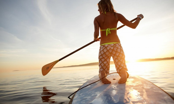 Tampa Bay Paddle Company - Tampa: $44 for a Two-Hour Rental for Two Stand-Up Paddleboards at Tampa Bay Paddle Company ($80 Value)
