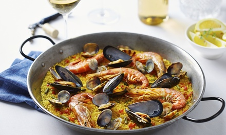 Paella with Wine for Two or Four at The Med Bar (Up to 51% Off)