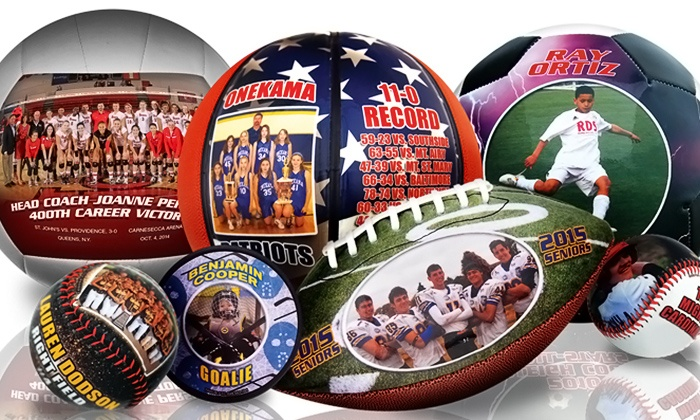 Make-A-Ball: Personalized Sports Gear from Make-A-Ball (Up to 55% Off). Two Options Available.