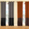 Faux Suede Thermal Grommet Curtain Panel Pairs