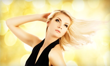 Cut and Style with a Single-Process Color (up to $130 value) - Blush Salon in Delray Beach