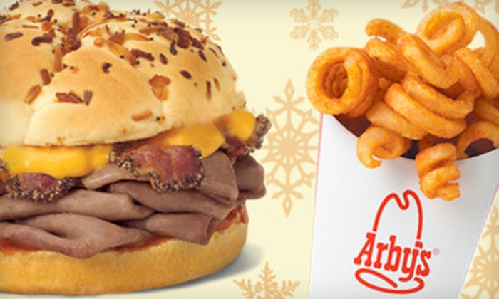 Arby's Restaurant - Multiple Locations: $5 for $10 Worth of Roast-Beef Sandwiches, Curly Fries, and Soft Drinks at Arby's