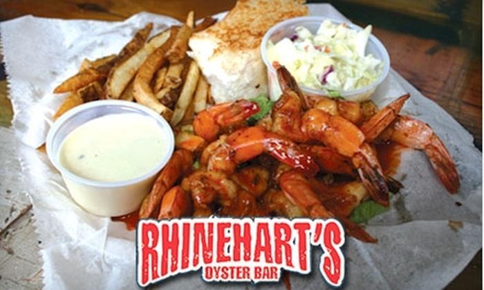 Rhinehart's Oyster Bar - Evans: $7 for $15 Worth of Oysters, Seafood, and More at Rhinehart's Oyster Bar