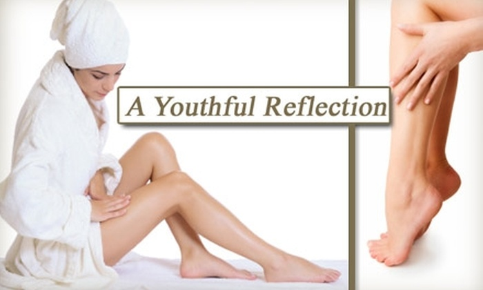 A Youthful Reflection - Central San Jose: $125 for Three Laser Hair-Removal Sessions at A Youthful Reflection (Up to $525 Value)