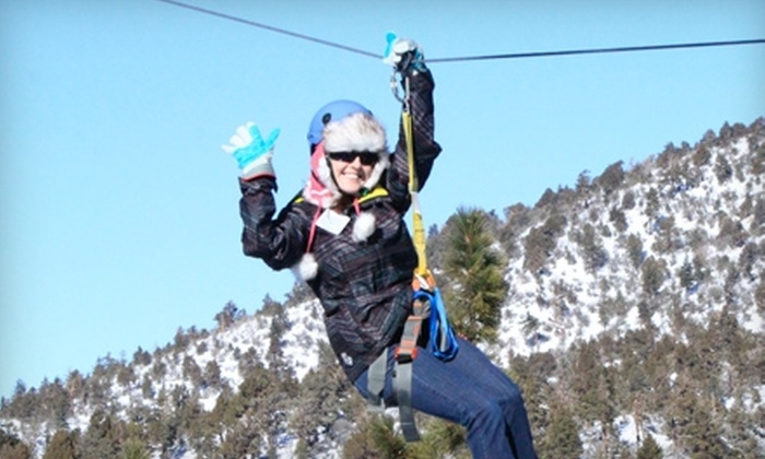 Action Zipline Tours - Big Bear Lake: $47 for an All-Inclusive Zip-Line Tour at Action Zipline Tours in Big Bear Lake