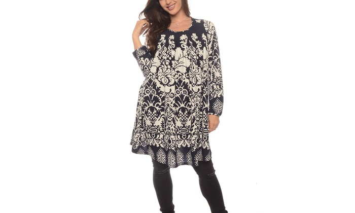 Women's Contemporary Paisley Print Tunics (Size S/M)