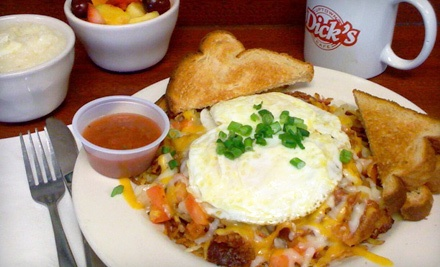 $12 Groupon for Breakfast or Lunch - Dick's Uptown Cafe in Cedar Hill