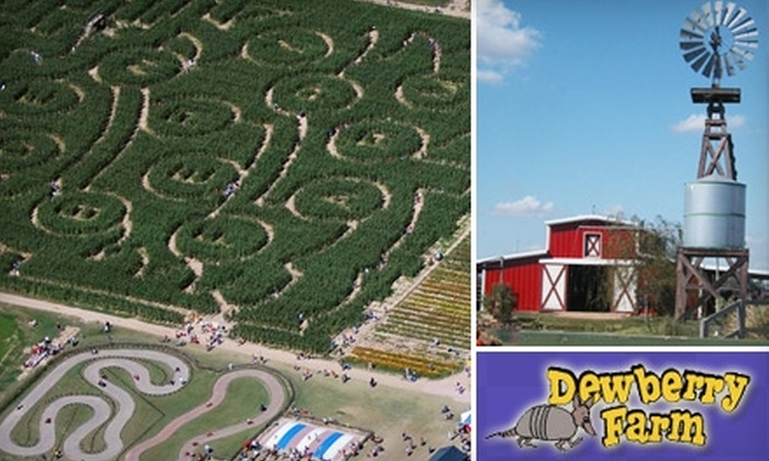 Dewberry Farm - Brookshire: $12 for Two General-Admission Tickets to Dewberry Farm in Brookshire (Up to $24 Value)