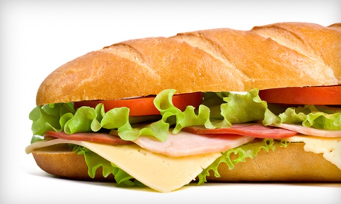 Subshack - Rosemount: $9 for Two Large Subs Plus Delivery from Subshack ($20.31 Value)