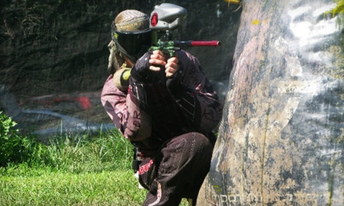 Drop Zone Paintball Park - Centropolis: $25 for Three Hours of Paintball for Two, Including Equipment Rental and 100 Balls Each, at Drop Zone Paintball Park ($50 Value)
