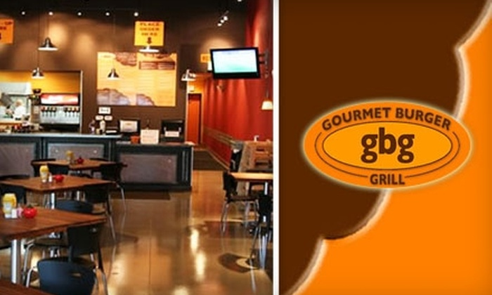 Gourmet Burger Grill - Multiple Locations: $5 for $10 Worth of Gourmet Burgers & Drinks at Gourmet Burger Grill