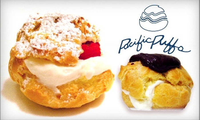 Pacific Puffs - Cow Hollow: $18 For a Dozen Cream Puffs ($36 value) at Pacific Puffs