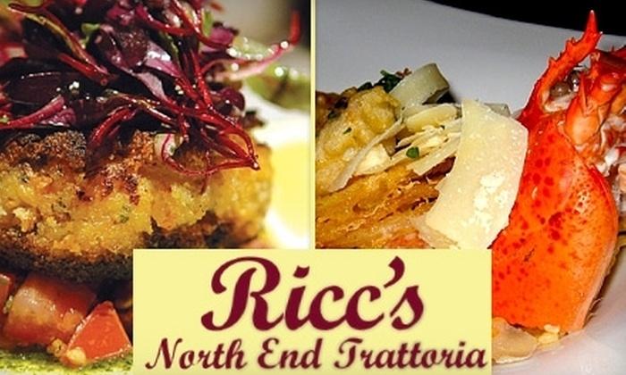 Ricc's North End Trattoria - Bristol: $15 for $35 Worth of Fine Italian Cuisine and Wine at Ricc's North End Trattoria