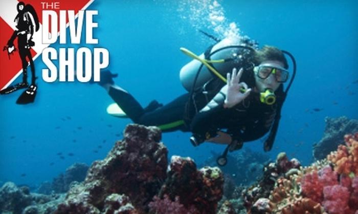 The Dive Shop - Boyle Park: $15 for a Try Scuba Diving Lesson at The Dive Shop ($50 Value)