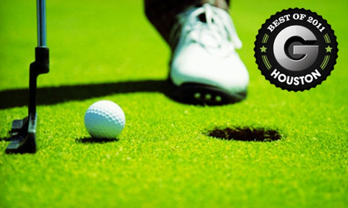 Red Wolf Golf Resort - Lake Houston: Golf Outing for One, Two, or Four with Cart and Range Balls at Red Wolf Golf Resort in Huffman (Up to 55% Off)