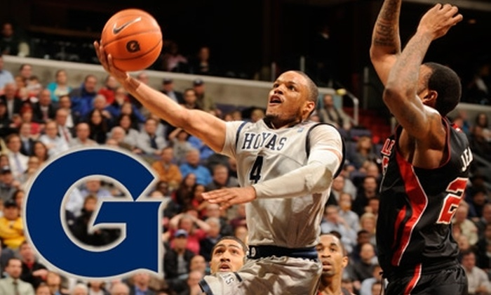 Georgetown University Hoyas Men's Basketball - Capitol Hill: Lower-Bowl or Upper-Bowl Tickets to Georgetown Men's Basketball Game. Choose Between Two Options.