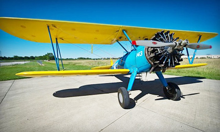 Biplane Ride Indy - Greenwood: $235 for a 30-Minute Biplane Flight Lesson from Biplane Rides Indy in Greenwood ($399 Value)