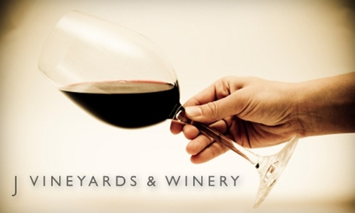 J Vineyards and Winery  - Healdsburg: $10 for a Five-Wine Tasting at J Vineyards and Winery