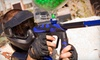 Flag Raiders - Victoria Hills: Indoor-Paintball Package with Equipment, Unlimited Air, and 100 Paintballs for One or Four Players at Flag Raiders