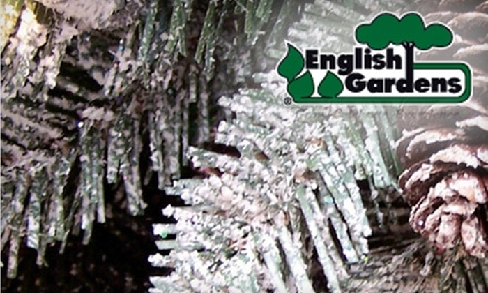English Gardens - Multiple Locations: $10 for $30 Worth of Holiday Decorations, Plants, and Flowers at English Gardens