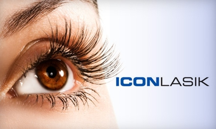 Icon LASIK - Multiple Locations: $499 for LASIK Eye Surgery for One Eye at Icon LASIK ($1,499 Value)