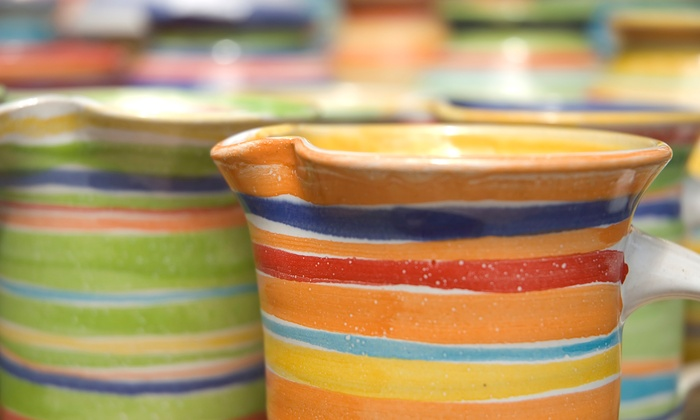 Pottery Plus Fired Art Studio - Tarrytown: Pottery Painting or a One-Hour Wheel Lesson for One or Two at Pottery Plus Fired Art Studio (Up to 51% Off)