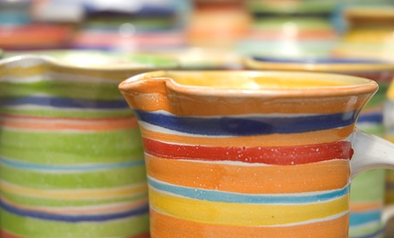 Pottery Painting or a One-Hour Wheel Lesson for One or Two at Pottery Plus Fired Art Studio (Up to 51% Off)