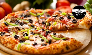 Glass Music Restaurant & Pizza no Limits: Menu giropizza con pizza illimitata e birra