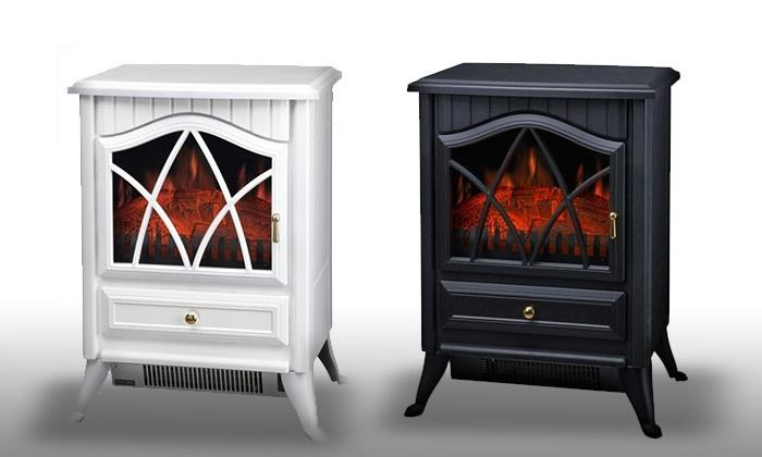 תנור קמין בהספק 2000W עם 2 דרגות חום, בעיצוב תנור ברזל רטרו עם דמוי להבה ב-388 ₪ בלבד