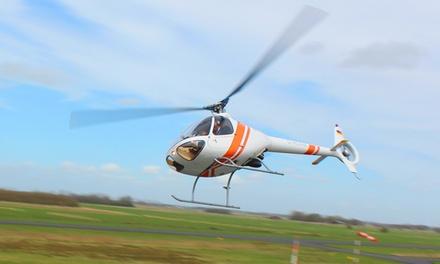 60 Minuten Hubschrauber-Schnupperflug mit Pilot inklusive Einweisung und selbst fliegen mit Heli Aviation ab 169,90 €
