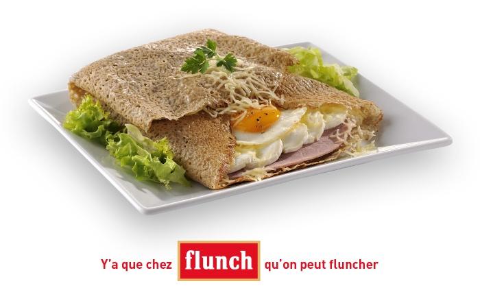 Chez flunch, pour 1€ seulement, bénéficiez de 10€ de réduction sur l'addition, midi et soir !*