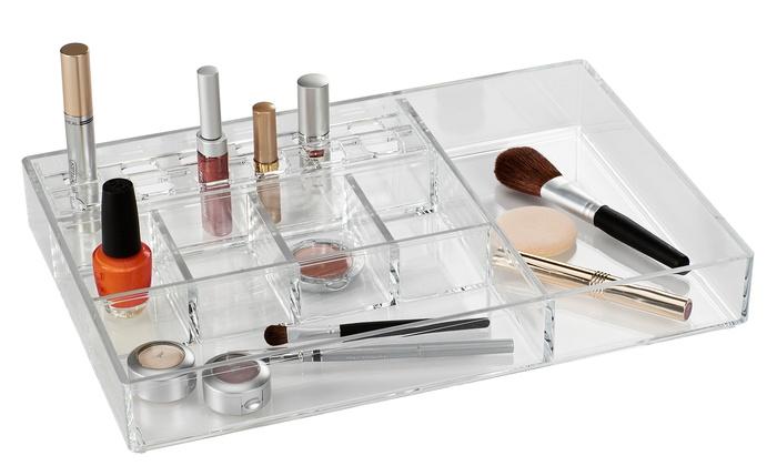 Large Acrylic Cosmetic Organizer Groupon - Acrylic makeup organizer