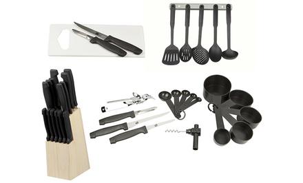 Home basics kitchen set 41pc groupon goods for Kitchen set groupon