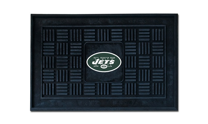 Heavy-Duty Rubber New York Jets NFL Doormat: Heavy-Duty Rubber New York Jets NFL Doormat