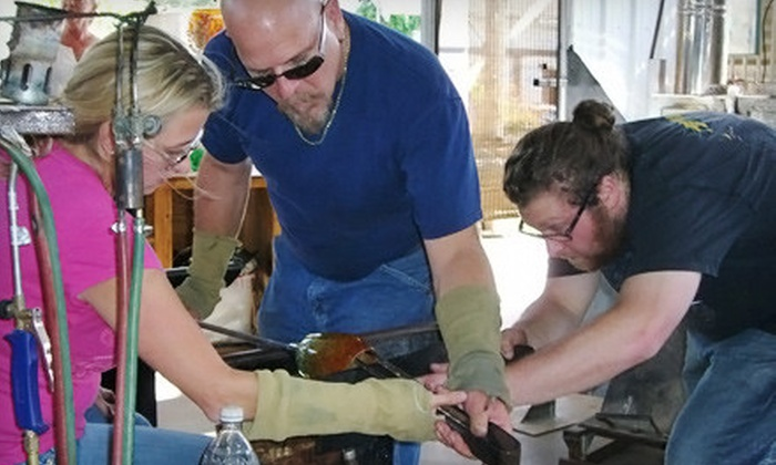 Stone and Glass - Rancho Bernadino: One Introductory Glassblowing Lesson or Two Roll-Up-Creation Lessons at Stone and Glass (Up to 72% Off)
