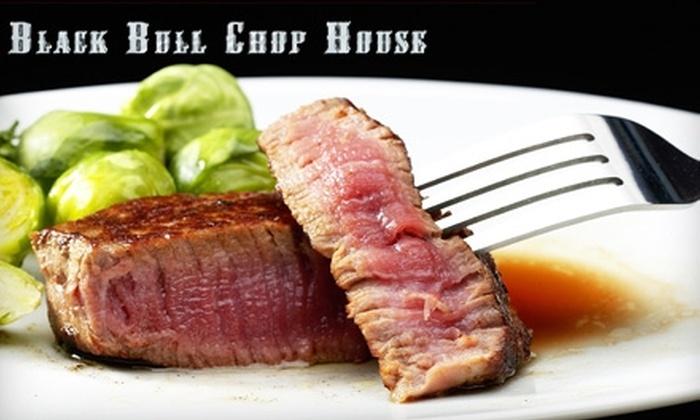 Black Bull Chop House - Orange County: $20 for $40 Worth of Steak, Burgers, and Drinks at Black Bull Chop House in Huntington Beach