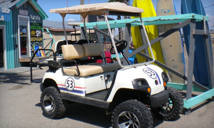 Island Surf Shop and Kayaks - Port Aransas: $12 for One-Hour, Four-Seat Beach-Buggy Rental from Island Surf Shop and Kayaks ($25 Value)