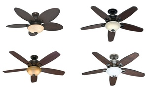 "Hunter 52"" Or 54"" Ceiling Fan With Remote Control  (manufacturer Refurbished)"